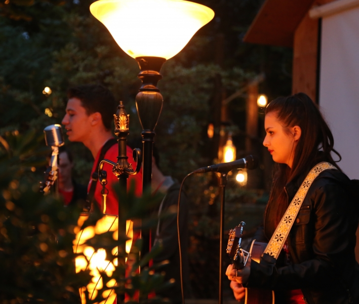 Kate Grahn and Mick Giacchino Performing