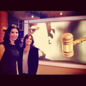 Kathleen Russell with Robin Sax Fox11 Legal Analyst.