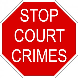 Stop Court Crimes Stop Sign