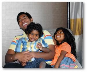 Suraj with siblings 1