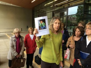 Laurie Duker of Courts Watch Montgomery says judges should be doing more to protect children like 15 month old murder victim Prince Rams. (Photo: Bruce Leshan)