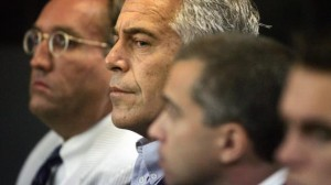 This July 30, 2008 photo shows Jeffrey Epstein in custody in West Palm Beach, Fla.