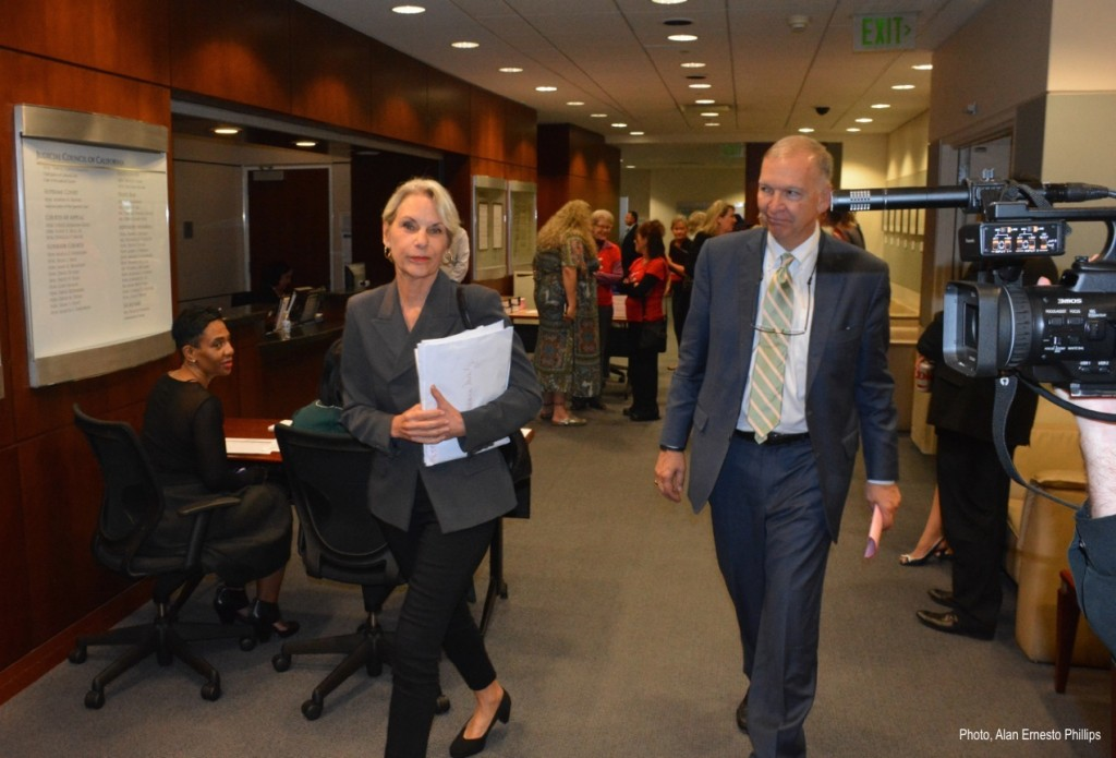 Barbara Monty & Neil Moran at the 10:27 Judicial Council of CA Meeting w:Photo Credit