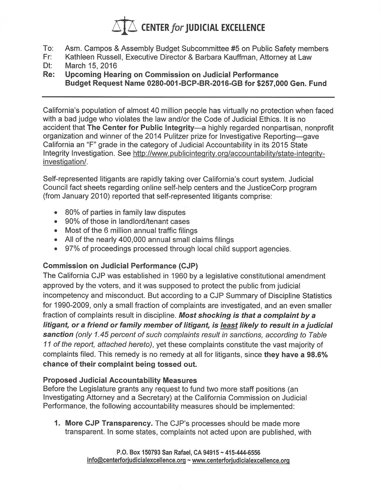 Handout for 3.16.16 meeting re CJP
